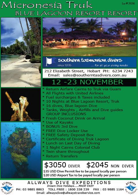 Southern Tas trip flyer